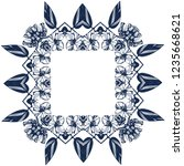 awesome jasmin flowers frame.... | Shutterstock .eps vector #1235668621