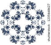 awesome jasmin flowers frame.... | Shutterstock .eps vector #1235668627