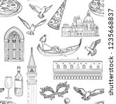seamless pattern with venice... | Shutterstock .eps vector #1235668837