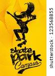 skate park vector art | Shutterstock .eps vector #123568855