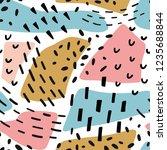 geometric memphis abstract... | Shutterstock .eps vector #1235688844