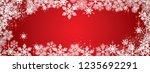 sweet winter snowflakes full... | Shutterstock .eps vector #1235692291