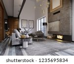 design apartment in the style... | Shutterstock . vector #1235695834