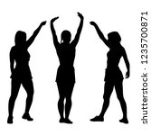 black silhouettes women with... | Shutterstock . vector #1235700871