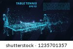 table tennis of blue glowing... | Shutterstock .eps vector #1235701357