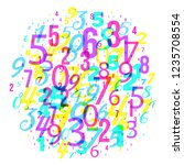 mathematics background  ... | Shutterstock .eps vector #1235708554