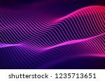 3d sound waves. big data... | Shutterstock .eps vector #1235713651