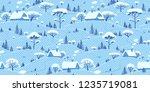 winter landscape background.... | Shutterstock .eps vector #1235719081