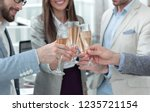 close up.glasses of champagne... | Shutterstock . vector #1235721154