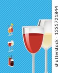 cocktail guide advertising... | Shutterstock . vector #1235721844