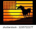 usa flag double exposure....   Shutterstock .eps vector #1235722177