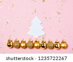 christmas background with... | Shutterstock . vector #1235722267