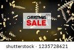 sale magic glitter confetti ... | Shutterstock .eps vector #1235728621