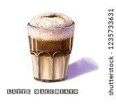 latte macchiato illustration... | Shutterstock . vector #1235733631