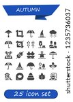 vector icons pack of 25 filled... | Shutterstock .eps vector #1235736037