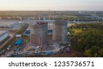 construction site in suburb ... | Shutterstock . vector #1235736571