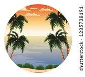 beach and island scenery | Shutterstock .eps vector #1235738191