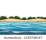 beach and island scenery | Shutterstock .eps vector #1235738197