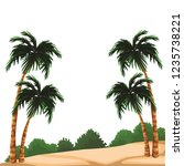 beach and island scenery | Shutterstock .eps vector #1235738221