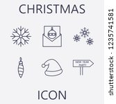 outline 6 christmas icon set...   Shutterstock .eps vector #1235741581