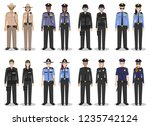 police people concept. set of... | Shutterstock .eps vector #1235742124