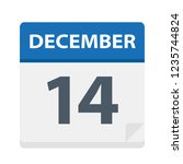 december 14   calendar icon  ... | Shutterstock .eps vector #1235744824