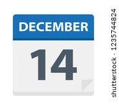 december 14   calendar icon  ... | Shutterstock .eps vector #1235744824