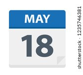 may 18   calendar icon   vector ... | Shutterstock .eps vector #1235746381