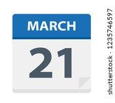 march 21   calendar icon  ... | Shutterstock .eps vector #1235746597