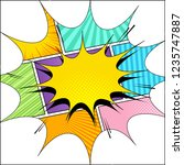 comic page original concept... | Shutterstock .eps vector #1235747887