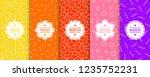 set of bright seamless memphis... | Shutterstock .eps vector #1235752231