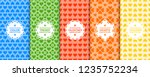 set of vector colorful seamless ... | Shutterstock .eps vector #1235752234