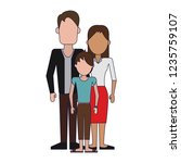 parents with son | Shutterstock .eps vector #1235759107