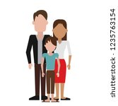 parents with son | Shutterstock .eps vector #1235763154