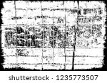 black and white distressed... | Shutterstock .eps vector #1235773507