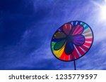 rainbow lgbt pride spinning... | Shutterstock . vector #1235779597