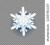 snowflake on transparent...   Shutterstock .eps vector #1235781157