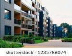 modern residential apartment... | Shutterstock . vector #1235786074