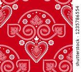 folklore floral nordic...   Shutterstock .eps vector #1235786554
