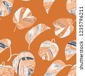 creative seamless pattern with... | Shutterstock . vector #1235796211