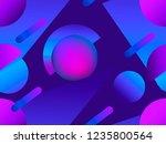 memphis seamless pattern....   Shutterstock .eps vector #1235800564