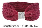 red wool headband with jewelry... | Shutterstock . vector #1235807167