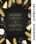 christmas and new year... | Shutterstock .eps vector #1235811181