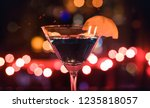colorful bright martini drink... | Shutterstock . vector #1235818057