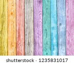 colored wood background | Shutterstock . vector #1235831017