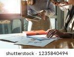 close up business team data... | Shutterstock . vector #1235840494