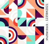abstract geometric patten of... | Shutterstock .eps vector #1235842021