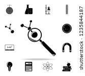 magnifier and elements icon....