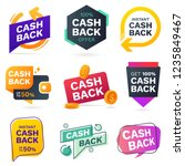 cash back icons set. colorful... | Shutterstock .eps vector #1235849467