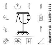 dropper line icon. hospital...   Shutterstock . vector #1235849581